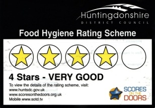 Food Hygeiene Rating four star